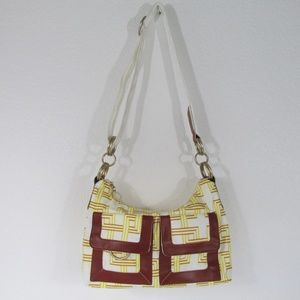 LeSportsac Yellow Shoulder Bag Chunky Hardware